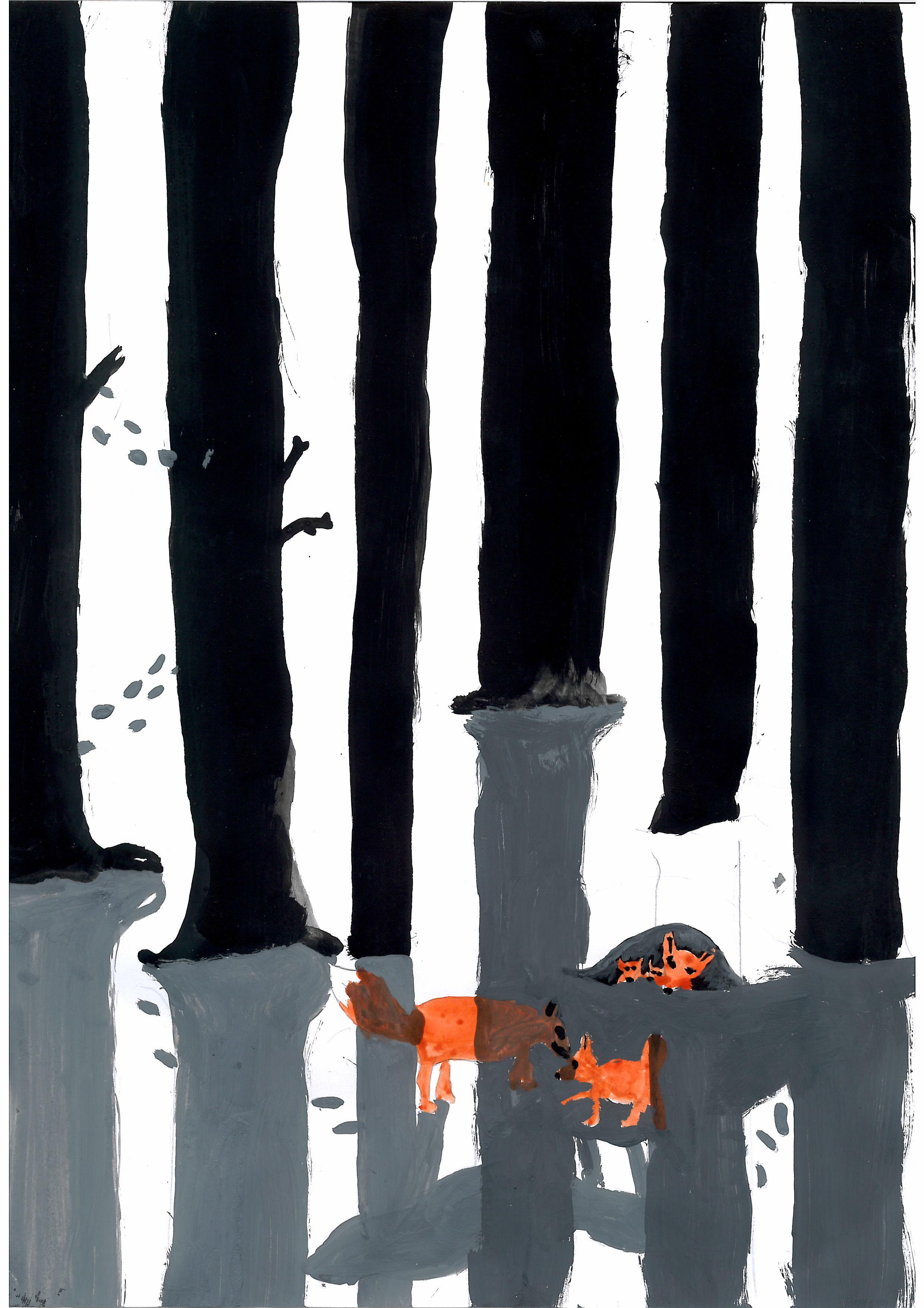 0503-EmmaFraaß-Fuchs im Wald-Bild(Schatten)