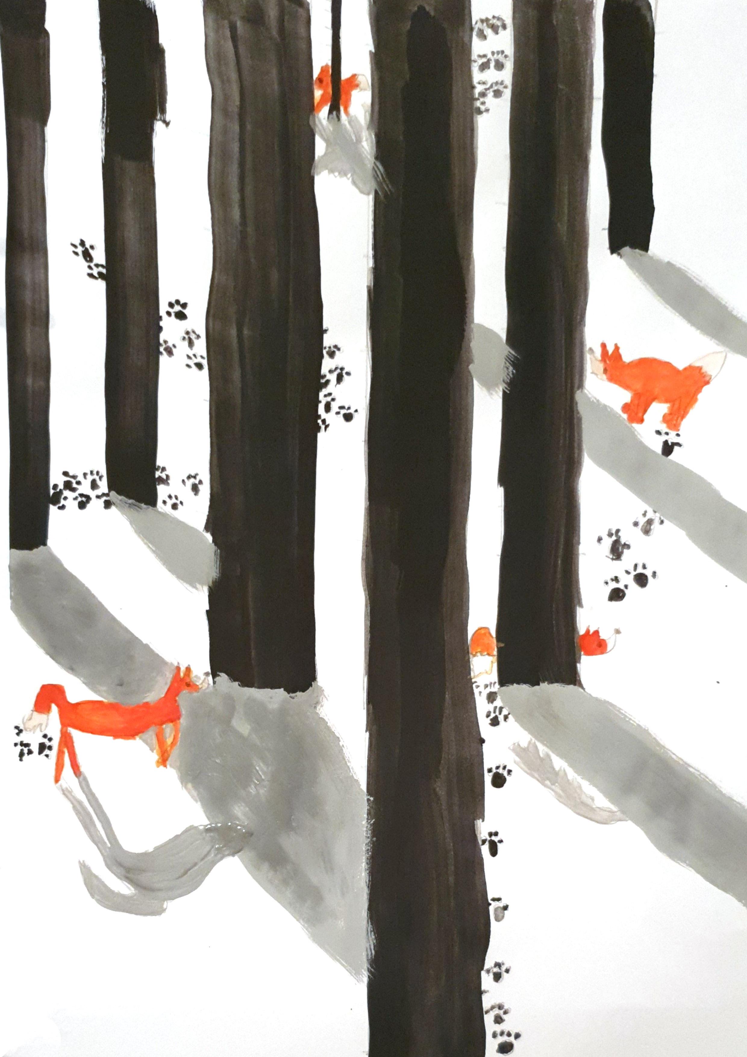 503, Kunst, Philip Schuder, Fuchs im Schneewald.jpg
