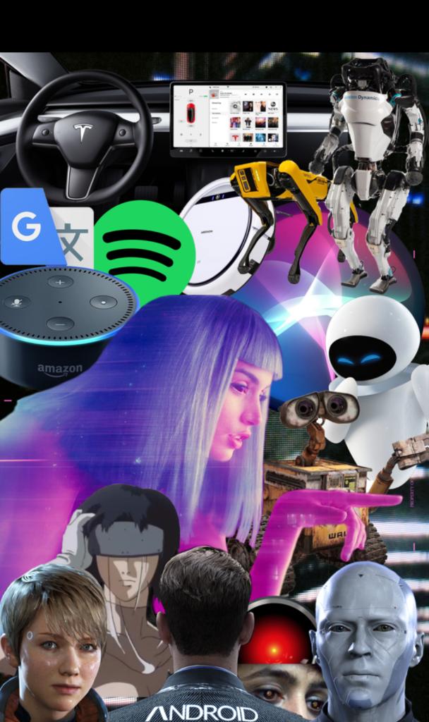 Alia Täsler Collage zum Thema Künstliche Intelligenz