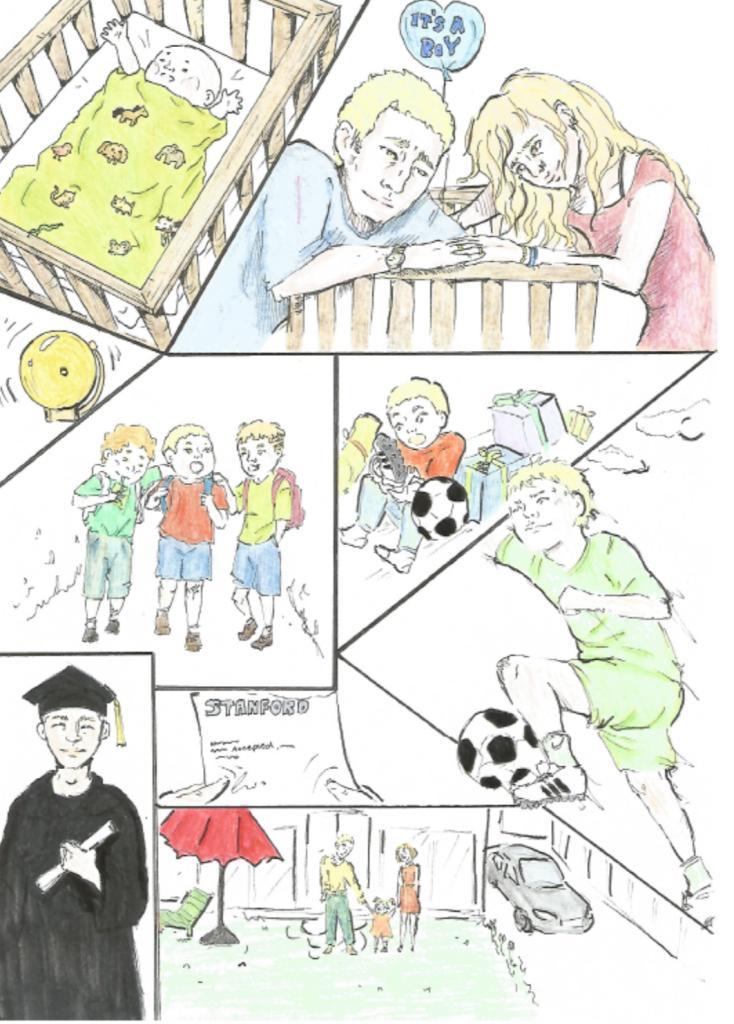 Comicreihe zum Theme Freiheit und Determination Teil 1
