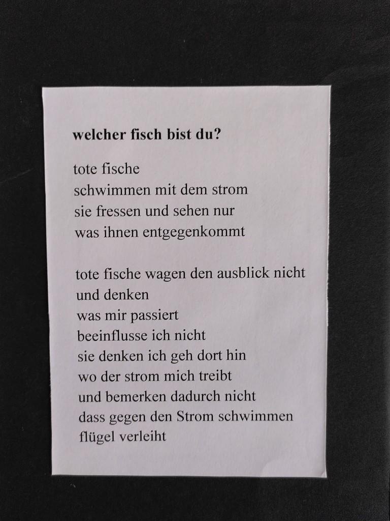 Gedicht Caro Manet